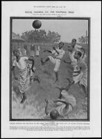 1907 Antique Print  - AFRICA Uganda Football King Mary Hall Daudi Chua (194)