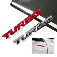 3D Turbo Letter Emblem Badge Logo Metal Sticker Decal Car Auto Trunk Fender Body