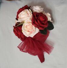 Bridal Bouquet, Wine,Rose and Cream Roses