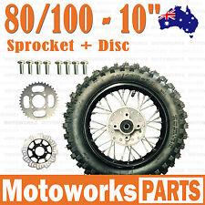 """80/100 - 10"""" Inch Rear Back Wheel + Sprocket + Disc Dirt Pit PRO Trail Bike"""