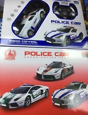 Police Car Music LED Light Cool Toy SUPER PATROL RACING 1:18 Toys Kids RED BLUE