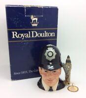 Toby Jug Pequeño Real Doullton Londres Bobby D6762 Vintage Porcelana Colección