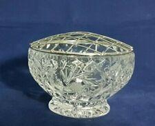 Beautiful Cut Glass / Crystal Rose Bowl (Diameter - 10 cm)