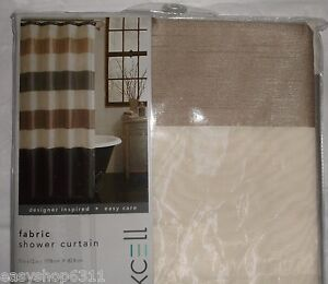 "2-LAYERS ELEGANT TAUPE OVERLAY FABRIC SHOWER CURTAIN SIZE 70""X 72"" NEW"