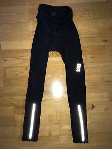 GORE BIKE WEAR Cycle Black Reflective Leggings Inner Gel Seat @ EU Small Tights