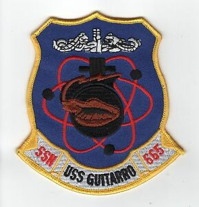 USS Guitarro SSN 665 - Crest BC Patch Cat. No. C5349