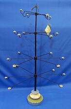 Williraye Ornament Tree Resin & Metal Flower Daisy Display 12 Rotating Arms Used