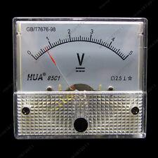 DC 5V Analog Voltmeter Panel Pointer Volt Voltage Meter Gauge 85C1 0-5V DC