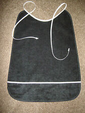 White, Lite brown or black  Adult pocket bib / shirt saver / leakproof