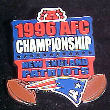 NEW ENGLAND PATRIOTS 1996 AFC CONFERENCE CHAMPS Comm Series Pin Willabee & Ward
