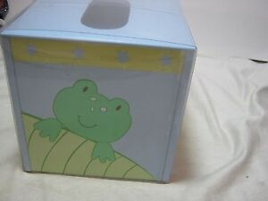New Tiddliwinks Froggie Tissue Box Cover -  Blue and Green NIP