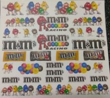 M&M's Clear! WATER-SLIDE DECALS FOR HOT WHEELS, MATCHBOX,1:64  MADE IN USA!
