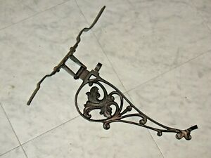 Antique Cast Iron Flag Pole Wall Mount Bracket 1890s Primitive Ready To Hang
