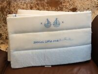 Silver cross vintage blue cot/bed bumper BN IB SOILED REDUCED STOCKS!NEED A WASH