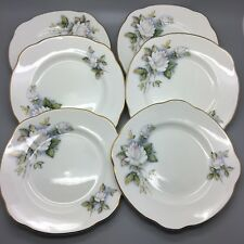 "Duchess ""Ice Maiden"" Full Set of 6 Tea Plates"