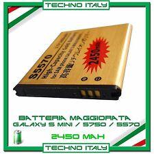 BATTERIA MAGGIORATA 2450 mAh PER SAMSUNG GALAXY NEXT GT S 5570 S 5750