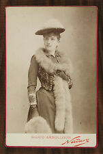 Sigrid Arnoldson Opéra Singer Photo Cabinet Card Nadar Paris