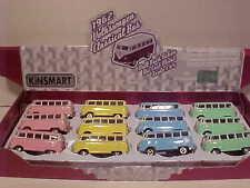 12 Pack VW Bus Volkswagen Van 1962 Diecast 1:64 Kinsmart 2.5in Pastel KEYCHAINS
