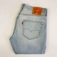Vintage Levi's 501 Jeans 33W 30L Faded Pale Blue Regular Fit Straight Leg