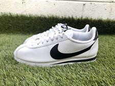Nike classic Cortez leather white / black women's shoe size 11 (807471-101)