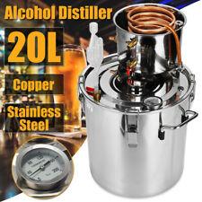 Moonshine Still 5 Gallon 20L Water Alcohol Distiller Home Brew Wine Making Kit