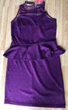 Ladies Peplum Dress Size 14 BNWT