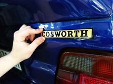 Ford Sierra / Escort RS COSWORTH BOOT REAR BADGE EMBLEM 4x4 RS2000 BLACK GOLD