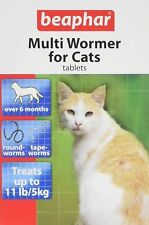 BEAPHAR Multi Wormer Tablets For Cats 12 Tablets Tape Round Worming Vet Strength