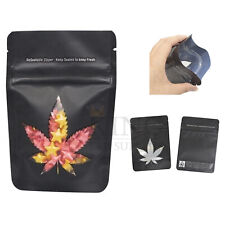 """30pcs 4x6"""" Mylar Bag Window Stand Up ZipLock Flower Pouch Resealable Smell Proof"""