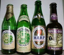 Vtg Green Beer Bottle Lot of 4 ~ Royal Oak ~ Harp ~ Greenall's Cheshire