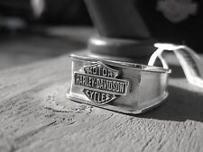 NWT Men's HARLEY-DAVIDSON  Silver RING   Size 15 Jewelry  BAR & SHIELD SIGNET