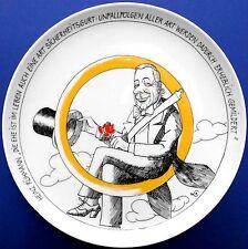 Rosenthal, porcellane piatto, porcellane, satira, cintura di sicurezza, attori, LIM. Aufl