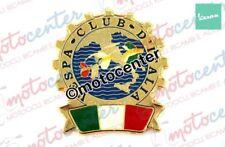 3955- Placca in metallo dorato Vespa Club D'italia Ø 55mm.