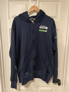 Seattle Seahawks Men's Big and Tall Sideline 3XL Zip Up Sweatshirt Apparel Nike