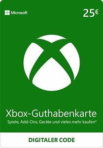 Xbox Live - 25 EUR Guthaben Karte - Xbox digitaler Code MS Xbox 360 & One 25€ EU