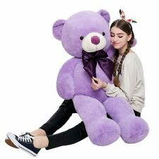 Giant Teddy Bear Big Plush Stuffed Animal for Girl or Boy Purple Kids Gift Huge
