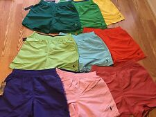 "Polo Ralph Lauren 6"" Hawaiian swim swimming trunks pony orange yellow green blue"