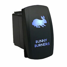 Rocker switch 627B 12V BUNNY BURNERS Laser LED blue on-off