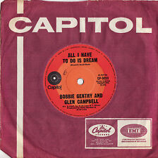 """BOBBY GENTRY & GLEN CAMPBELL -  ALL I HAVE TO DO IS DREAM Rare 1970 OZ 7"""" Single"""