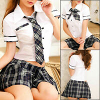 Naughty Women School Girl Uniform Student Lingerie Dress Party Costume Hot