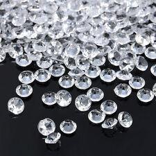 1000PCS 3-8mm Diamond Table Confetti Wedding Party Scatter Acrylic Crystal Decor