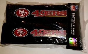 San Francisco 49ers SF 2 Pack Velour Seat Belt Shoulder Pads Car Auto Truck NFL