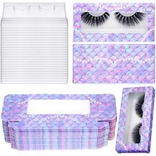 24 Set Empty False Eyelash Box with Eyelash Tray Kit Plastic Eyelash Packaging