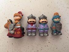 4 pc Castle set King Knights Knight On Horses Hard Plastic Cake Topper