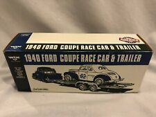 Ertl Wix 1940 Ford Coupe Race Car & Car Trailer Coin Bank 1995