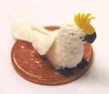 1:12 Scale Polymer Clay Baby White Cockatoo Dolls House Miniature Garden Bird C1