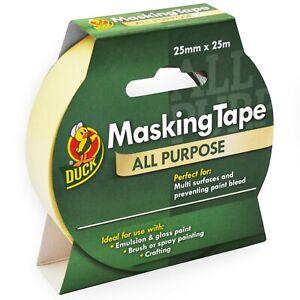 Duck Tape All Purpose Masking Tape - 25mm x 25m - Cream - Single Roll