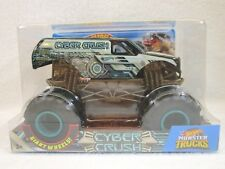 2018 1:24 Scale Hot Wheels Monster Jam CYBER CRUSH Rare BigFoot Truck!