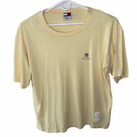 Vintage Tommy Hilfiger Mens Yellow XL 100pc Cotton Short Sleeve T Shirt