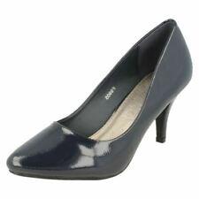 Calzado de mujer azules de charol, talla 40